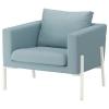 KOARP tekli koltuk, orrsta açık mavi-beyaz 83x78x75 cm