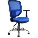 2051F0542 - Bürocci Eva Metal Ayaklı Çalışma Koltuğu-Mavi