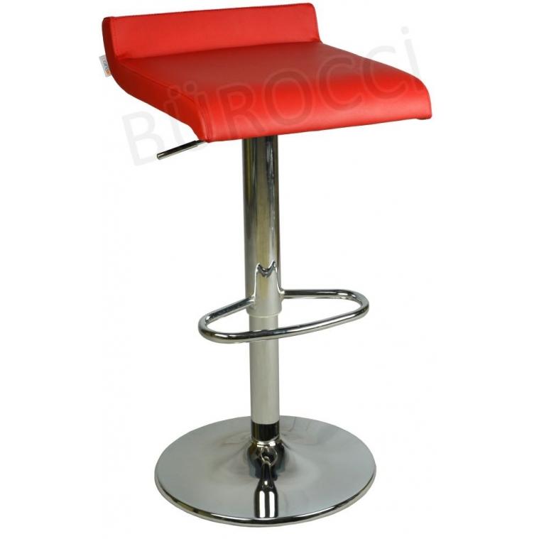 9508Q0116-Bürocci Adriana Bar Taburesi-Kırmızı Deri