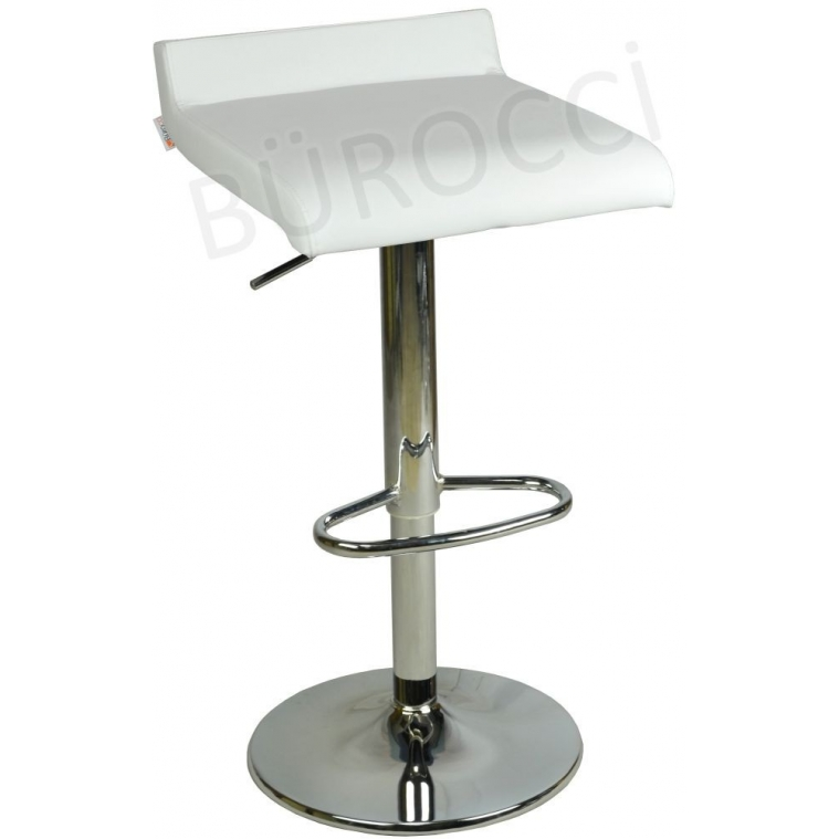 9508Q0109-Bürocci Adriana Bar Taburesi-Beyaz Deri