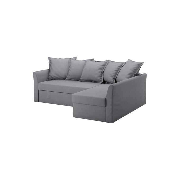 HOLMSUND yataklı köşe kanepe, nordvalla orta gri 230x90x96 cm