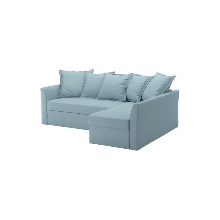 HOLMSUND yataklı köşe kanepe, orrsta açık mavi 230x90x96 cm