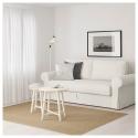 BACKABRO/MARIEBY 3'lü yataklı kanepe, hylte beyaz 208x88x71 cm