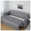HOLMSUND 3'lü yataklı kanepe, nordvalla orta gri 230x91x96 cm