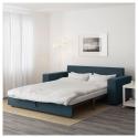 VILASUND/MARIEBY 3'lü yataklı kanepe, hillared koyu mavi 202x88x71 cm