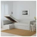 HOLMSUND yataklı köşe kanepe, orrsta açık beyaz-gri 230x90x96 cm