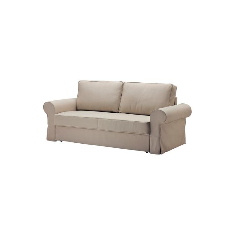 BACKABRO/MARIEBY 3'lü yataklı kanepe, tygelsjö bej 208x88x71 cm