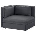 VALLENTUNA arkalıklı ve yataklı oturma ünitesi, hillared koyu gri 113x93x84 cm