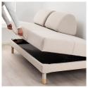 FLOTTEBO 2'li yataklı kanepe, lofallet bej, 90 cm