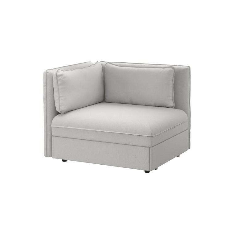 VALLENTUNA arkalıklı ve yataklı oturma ünitesi, orrsta açık gri 113x93x84 cm