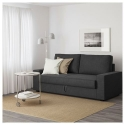 VILASUND/MARIEBY 3'lü yataklı kanepe, hillared antrasit 202x88x71 cm
