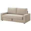 VILASUND/MARIEBY 3'lü yataklı kanepe, hillared bej 202x88x71 cm