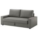 VILASUND/MARIEBY 3'lü yataklı kanepe, borred gri-yeşil 202x88x71 cm