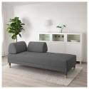 FLOTTEBO 2'li yataklı kanepe, lysed koyu gri, 90 cm