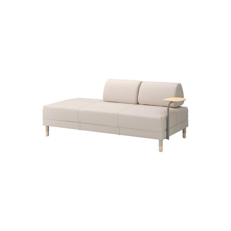 FLOTTEBO sehpalı yataklı kanepe, lofallet bej, 90 cm
