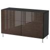 BESTA/SELSVIKEN dolap kombinasyonu, venge-stallarp parlak-kahverengi, 120x40x74 cm