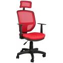 2051R0545 - Bürocci Eva Fileli Başlıklı Koltuk-Kırmızı