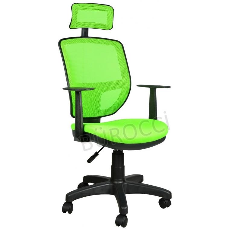 2051R0543 - Bürocci Eva Fileli Başlıklı Koltuk-Yeşil