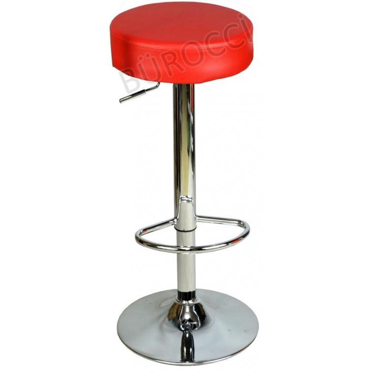 9511Q0116 - Bürocci Nina Bar Taburesi - Kırmızı Deri