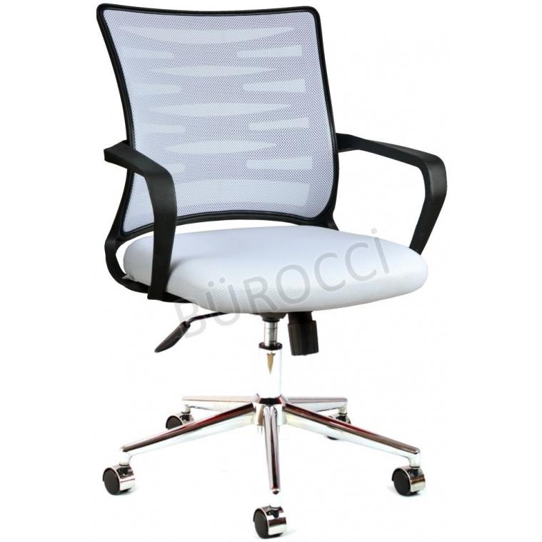 2063A0550 - Bürocci Alisa Metal Ayaklı Çalışma Koltuğu - Beyaz