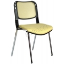 2016P0544 - Bürocci Fileli Kromajlı Form Sandalye - Hardal