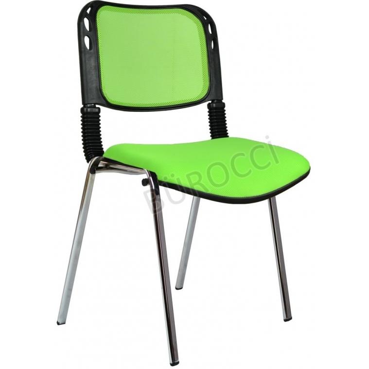 2016P0543 - Bürocci Fileli Kromajlı Form Sandalye - Yeşil
