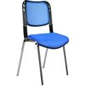 2016P0542 - Bürocci Fileli Kromajlı Form Sandalye - Mavi