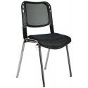 2016P0541 - Bürocci Fileli Kromajlı Form Sandalye - Siyah