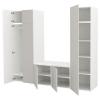 PLATSA/SKATVAL gardırop, beyaz-açık gri, 260x57x221 cm