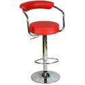 9510Q0116 - Bürocci Monica Bar Taburesi - Kırmızı Deri