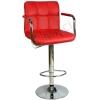 9503Q0116 - Bürocci Carla Bar Taburesi - Kırmızı Deri