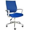2102G0542 - Bürocci Aletta Metal Ayaklı Çalışma Koltuğu - Mavi