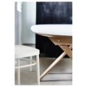SLAHULT yemek masası, beyaz-huş, 185x90 cm