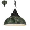 Eglo Grantham Tekli Metal Sarkıt Antik Yeşil 49735