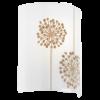 Eglo Arlena Beyaz Baskılı Cam Aplik 92045