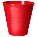 Ofisel çöp kutusu, kırmızı