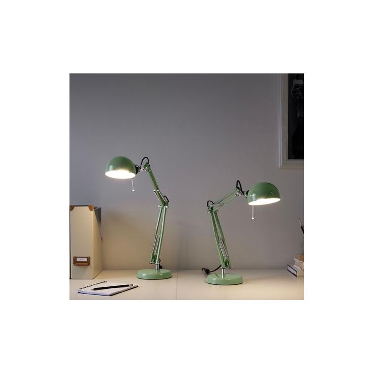 Ofisel çalışma lambası, yeşil