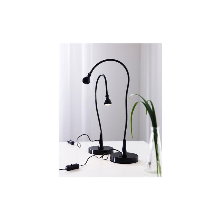 Ofisel LED'li çalışma lambası, siyah