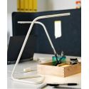 Ofisel LED'li çalışma lambası, beyaz-lame