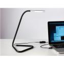 Ofisel LED'li çalışma lambası, siyah-lame