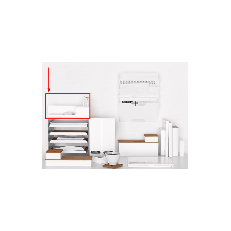 Ofisel masaüstü düzenleyici, beyaz