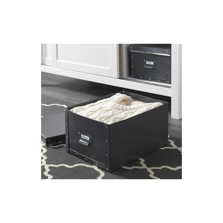 Ofisel kapaklı kutu, koyu gri