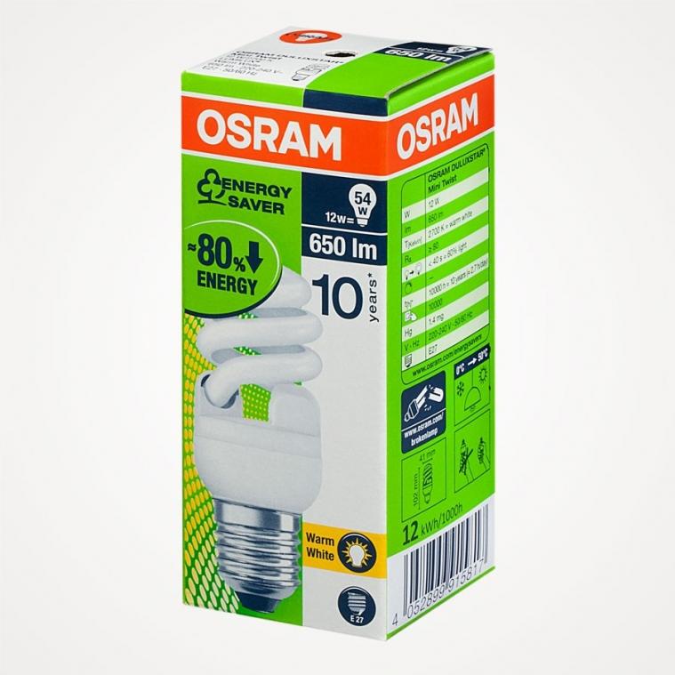 OSRAM Spiral Enerji Tasarruflu Ampul 12 W E-27