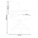 Ofisel Porto Çalışma Koltuğu Ofis Sandalyesi - Pembe