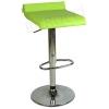 9508Q0110-Bürocci Adriana Bar Taburesi-Yeşil Deri