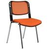 2016P0549 - Bürocci Fileli Kromajlı Form Sandalye - Turuncu