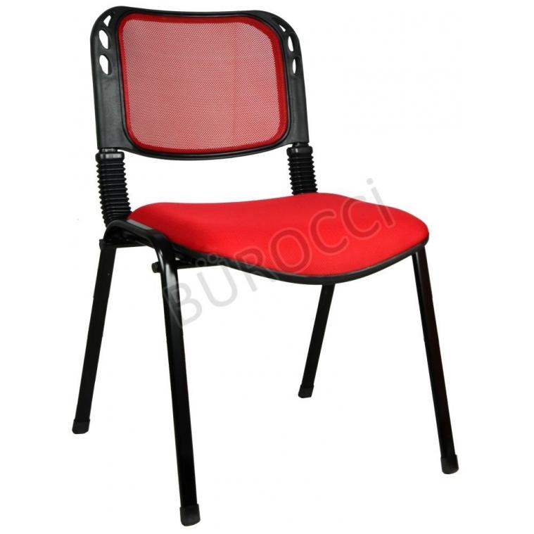2016R0545 - Bürocci Fileli Form Sandalye - Kırmızı