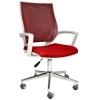 2102G0545 - Bürocci Aletta Metal Ayaklı Çalışma Koltuğu - Kırmızı
