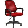 2052F0545 - Bürocci Ergo Plastik Ayaklı Çalışma Koltuğu - Kırmızı