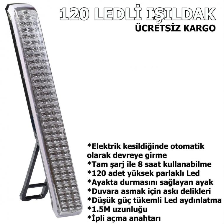 VIVA LİFE 120 LEDLİ ŞARJLI IŞILDAK İP ANAHTARLI IŞILDAK